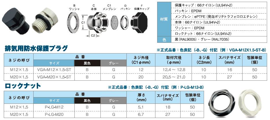 ナイロン製VGA