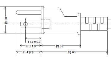 プラグ付電源コード 15A(12A可)125V2P+E