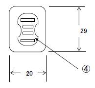 プラグ・アースクリップ付電源コード 7A125V2P