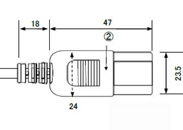 3Pインレットコネクタ 7A125V