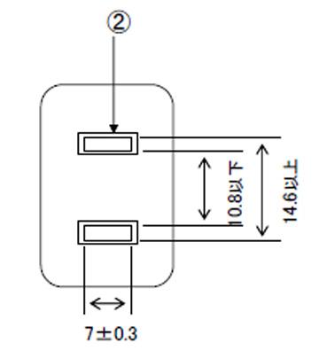 7A中間口出し線付プラグ(アダプター)15A(12A可)125V
