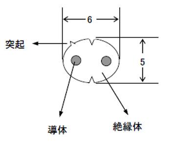 プラグ付カールコード VFF丸形 0.75SQ