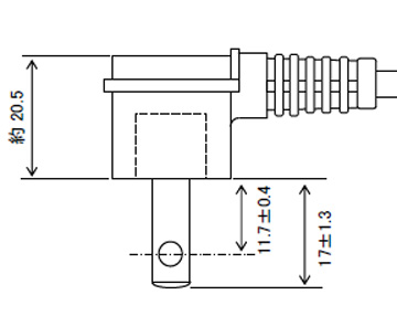 L型プラグ付電源コード 15A(12A可)125V2P